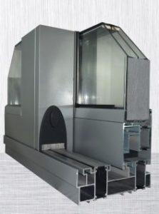 Aluminiumfönsterfran-Polen-Skjutsystem